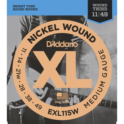 D'Addario XL 11-49 Set with Wound 3rd string