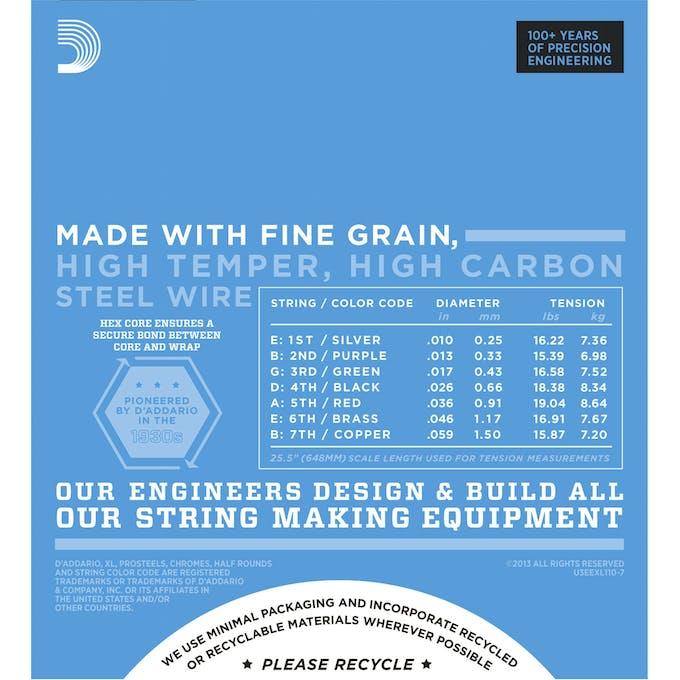 D\'addario XL 10-59 Regular Light 7 String Set - Andertons Music Co.
