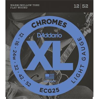D'Addario Chromes ECG25 12 - 52 Light Set