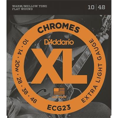 D'Addario Chromes ECG23 10-48 Extra Light Set