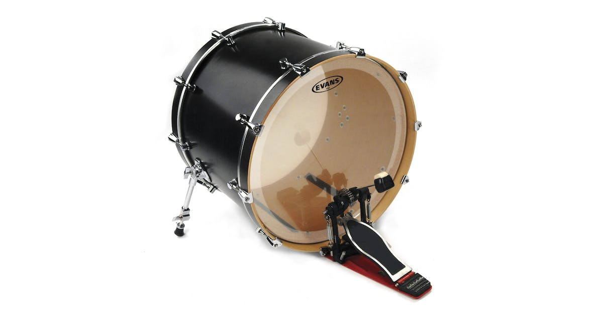 evans bd 22 eq4 clear drum head andertons music co. Black Bedroom Furniture Sets. Home Design Ideas