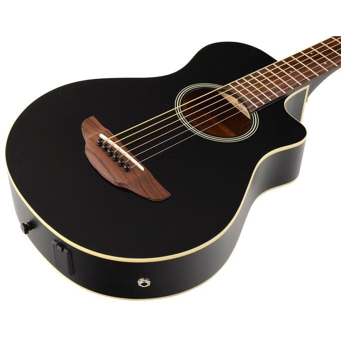 Yamaha APX T2 Travel Size Electro Acoustic Guitar In Black