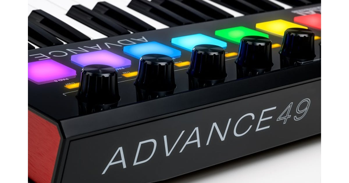 akai advance 49 key midi keyboard andertons music co. Black Bedroom Furniture Sets. Home Design Ideas