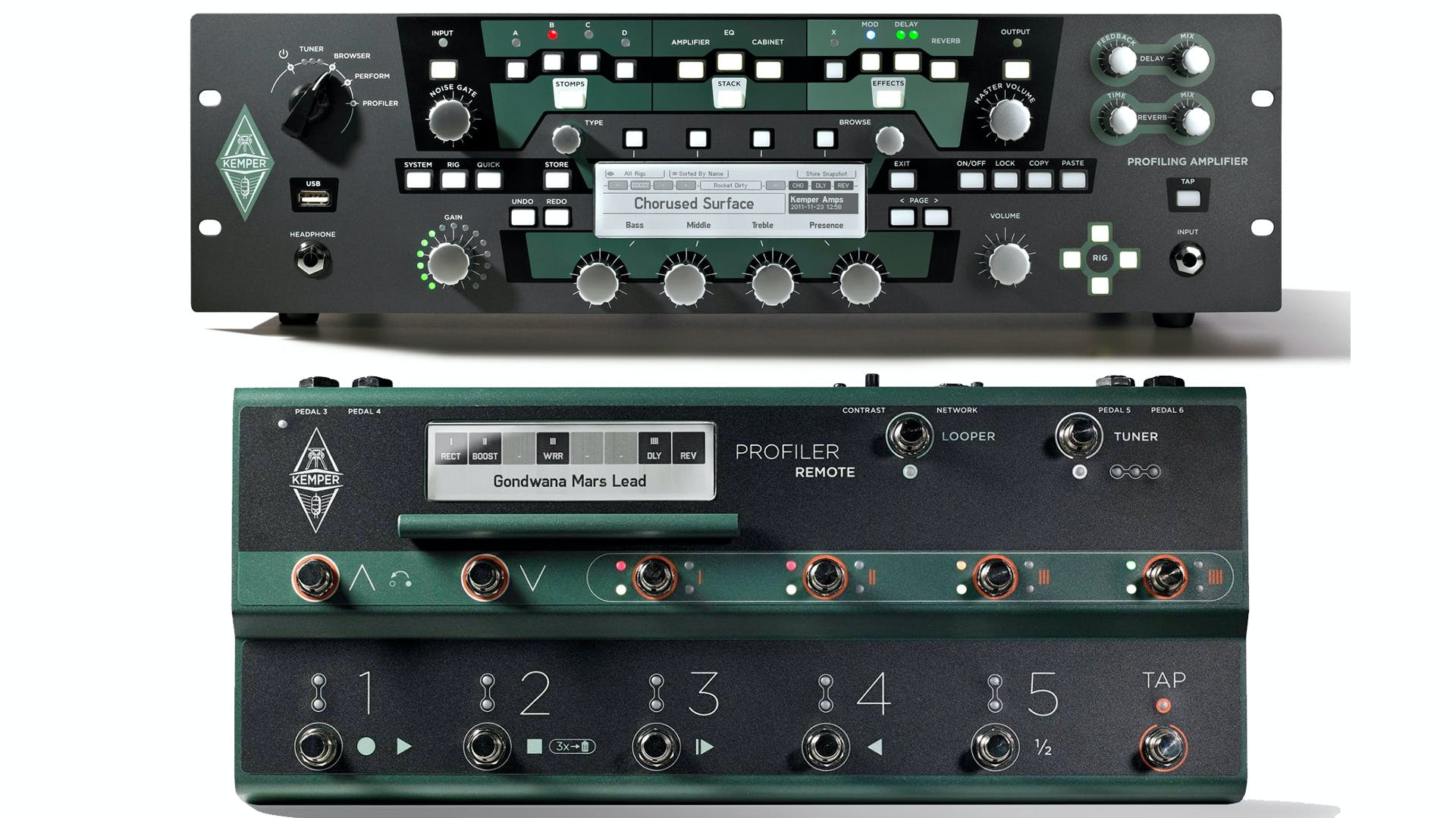 kemper powered rack plus remote footswitch set andertons music co