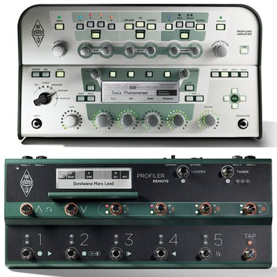 Kemper Profiling Amp in White With Remote Footswitch Set