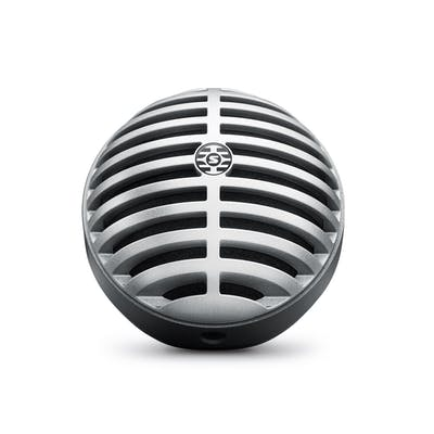 Shure Motiv MV5 Digital Large Diaphragm Condenser Mic In Silver