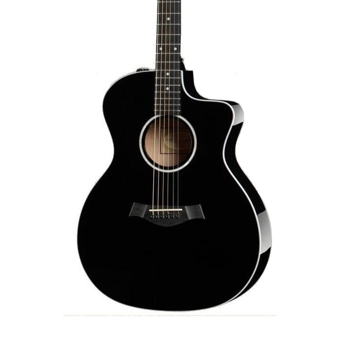Taylor 214ce Dlx Electro Acoustic Guitar In Black Andertons Music Co
