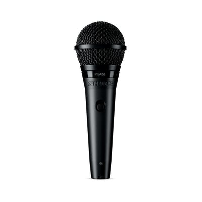 Shure PGA58 Cardioid dynamic vocal microphone with XLR Cable