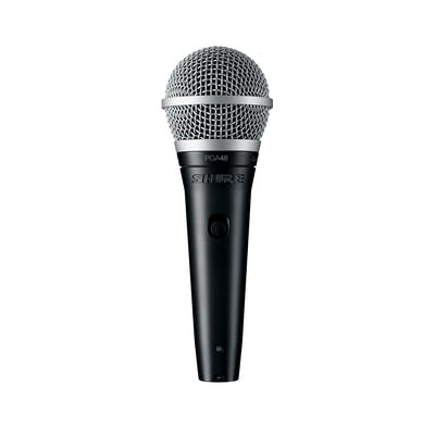 Shure PGA48 Cardioid dynamic vocal microphone with XLR-QTR cable