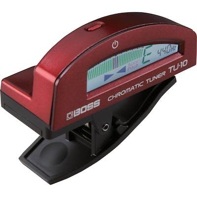 BOSS TU10 Clip On Tuner - Metallic Red