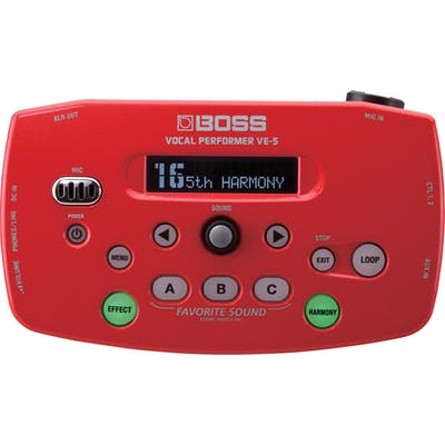 Boss VE-5 Vocal Processor in Red