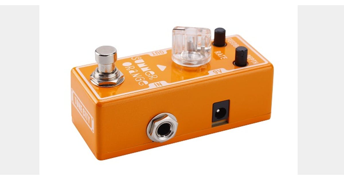 tone city summer orange phaser pedal andertons music co. Black Bedroom Furniture Sets. Home Design Ideas