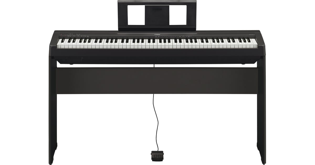 yamaha p45 compact digital piano in black andertons music co. Black Bedroom Furniture Sets. Home Design Ideas