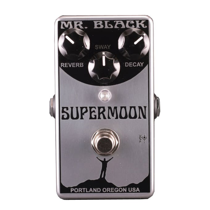 Mr Black Supermoon Chrome Reverb Pedal Andertons Music Co