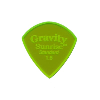 Gravity Sunrise Standard 1.5mm Pick (Green) with Unpolished Edge