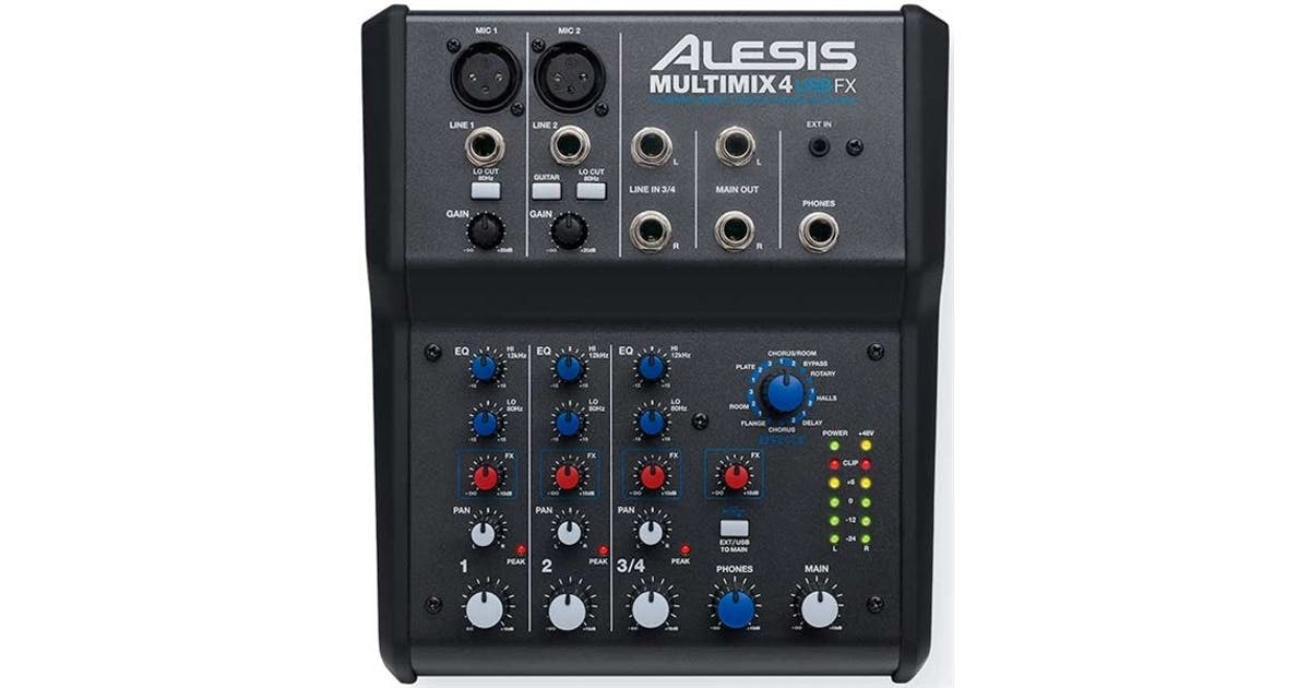 alesis multimix 4 mixer with effects usb audio interface andertons music co. Black Bedroom Furniture Sets. Home Design Ideas