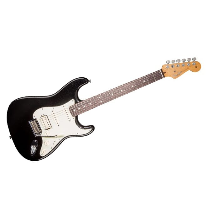 Fender american deluxe strat plus hss in metallic black andertons fender american deluxe strat plus hss in metallic black freerunsca Choice Image