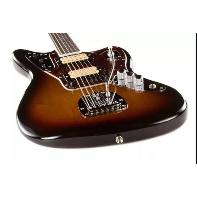 fender kurt cobain jaguar nos in 3 tone sunburst - andertons music co.