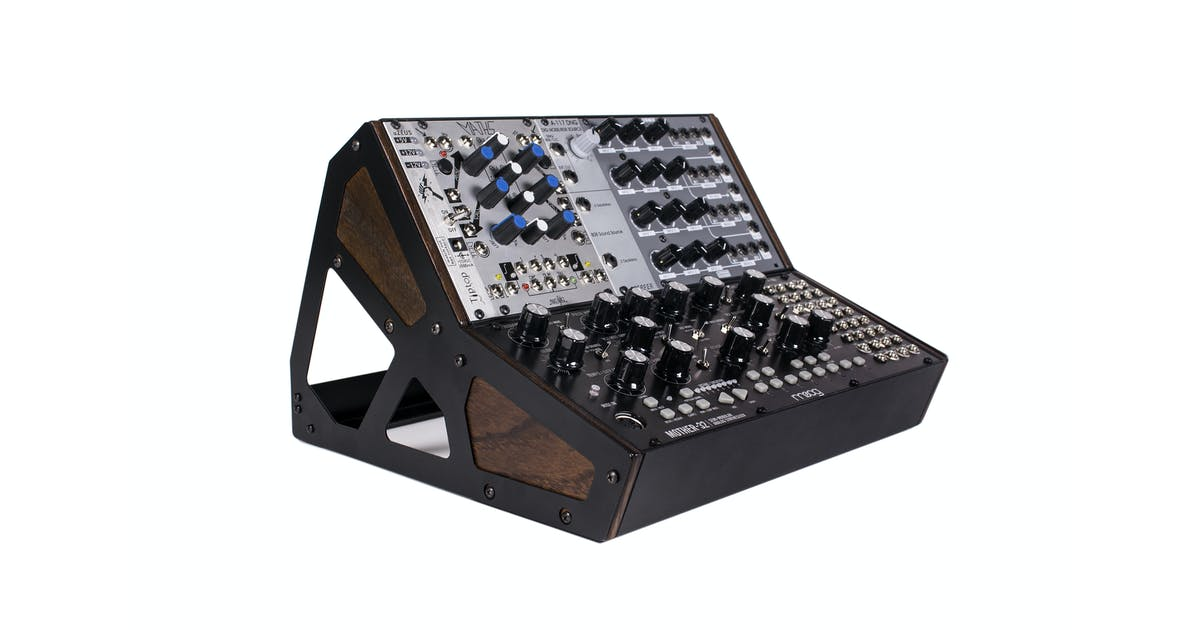moog 2 tier rack stand for mother 32 modular synth andertons music co. Black Bedroom Furniture Sets. Home Design Ideas