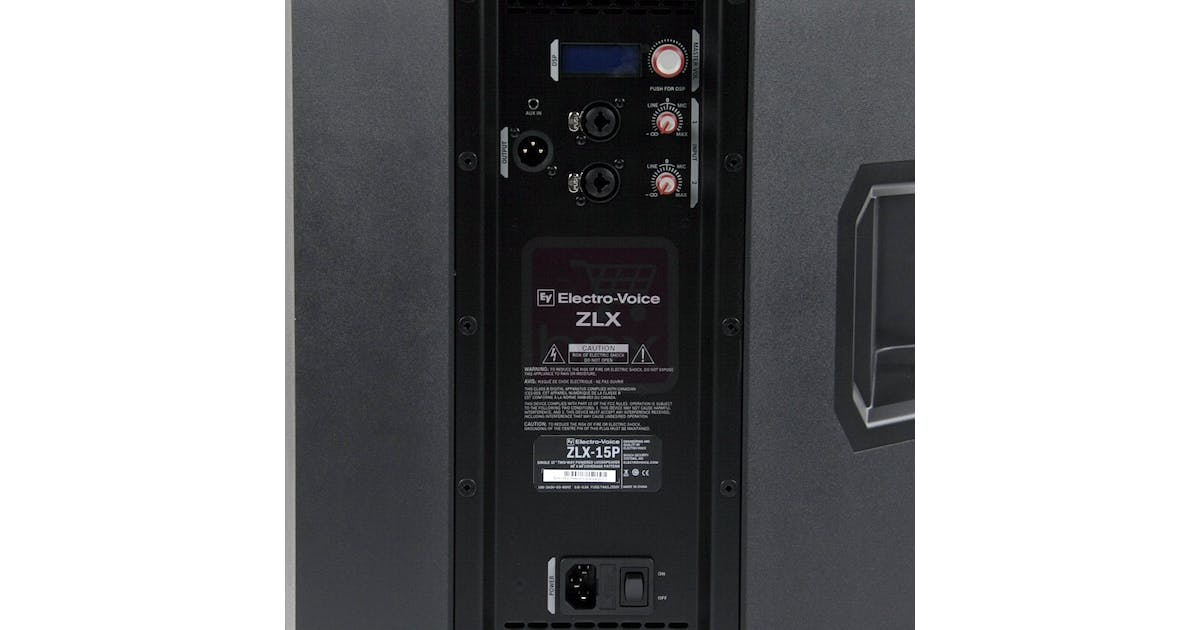 electro voice ev zlx15p 1000w 15inch active pa speaker andertons music co. Black Bedroom Furniture Sets. Home Design Ideas