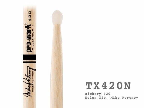 TX420N ProMark American 420 Nylon Tip Drumsticks Mike Portnoy 1x Pair