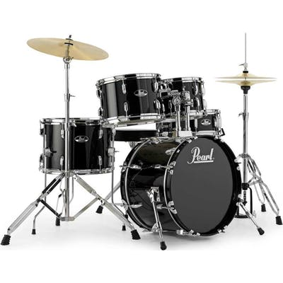 Pearl Road Show Fusion kit 10, 12, 14, 20,14 Snare in Black