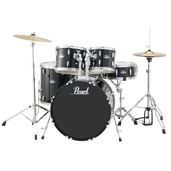 Pearl Road Show Bebop Kit 10, 12, 14, 18,13 Snare in BLack, Full -  Andertons Music Co