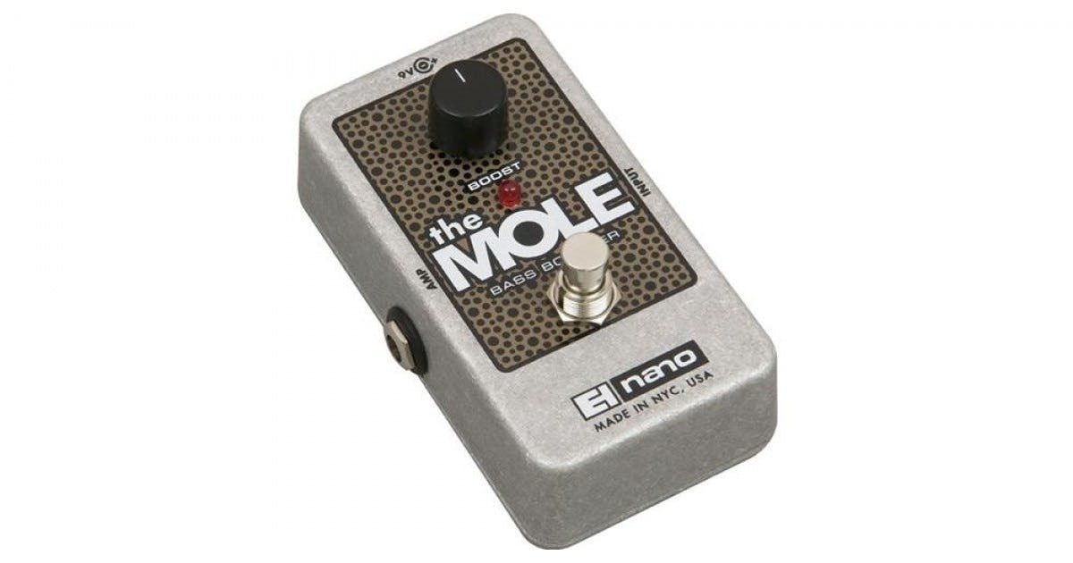 electro harmonix the mole bass booster nano pedal andertons music co. Black Bedroom Furniture Sets. Home Design Ideas