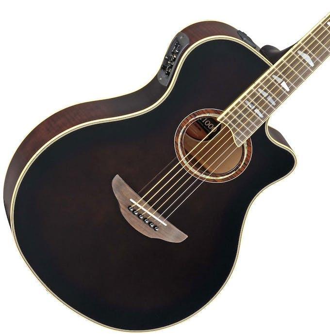 Yamaha Apx1000 Electro Acoustic Guitar In Mocha Black Andertons