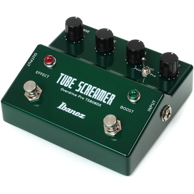 Ibanez TS808DX Tube Screamer Overdrive with Boost - Andertons Music Co