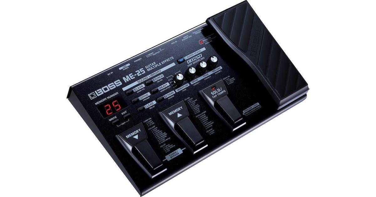 boss me25 guitar effects processor andertons music co. Black Bedroom Furniture Sets. Home Design Ideas